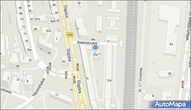 Gdynia, Śląska, 51a, mapa Gdyni