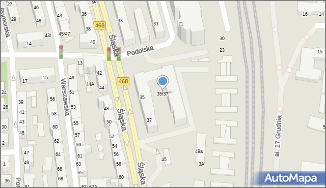 Gdynia, Śląska, 35/37, mapa Gdyni
