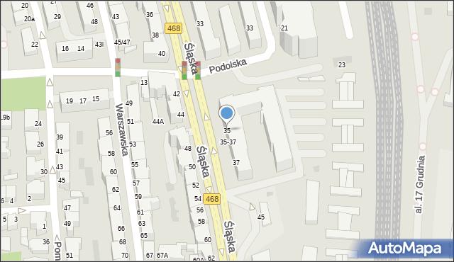 Gdynia, Śląska, 35, mapa Gdyni