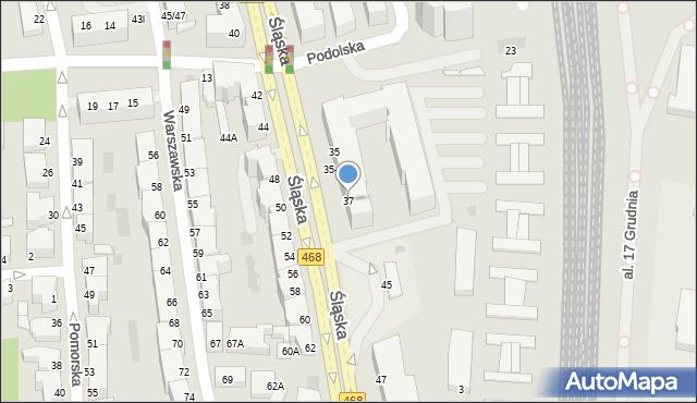 Gdynia, Śląska, 37, mapa Gdyni