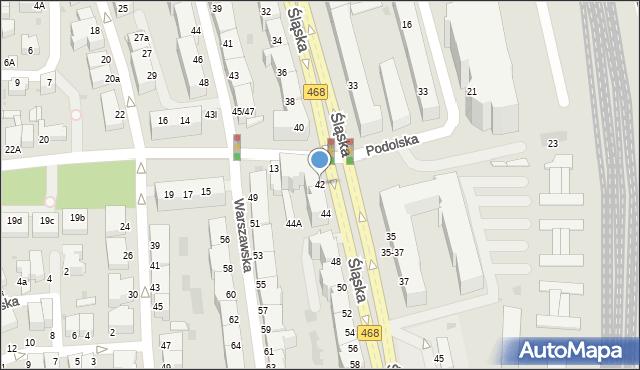 Gdynia, Śląska, 42, mapa Gdyni