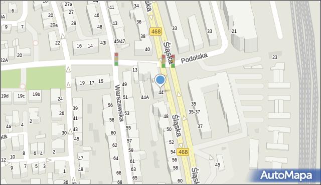Gdynia, Śląska, 44, mapa Gdyni