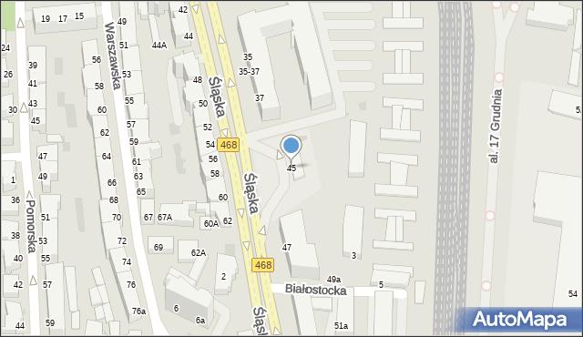 Gdynia, Śląska, 45, mapa Gdyni