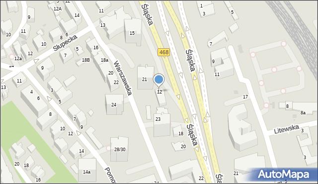 Gdynia, Śląska, 12, mapa Gdyni
