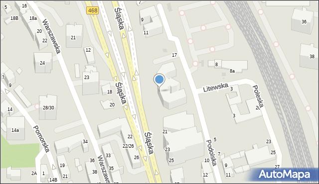 Gdynia, Śląska, 17, mapa Gdyni