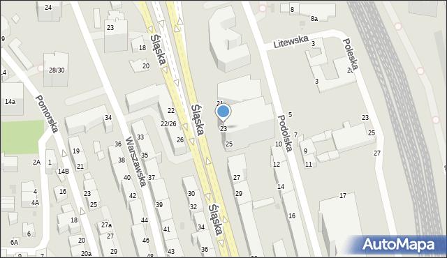 Gdynia, Śląska, 23, mapa Gdyni
