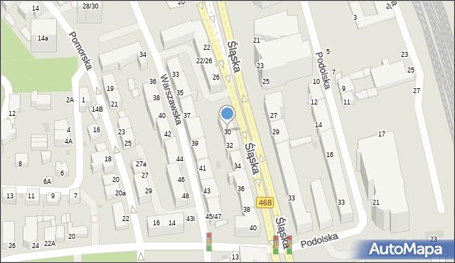 Gdynia, Śląska, 30, mapa Gdyni