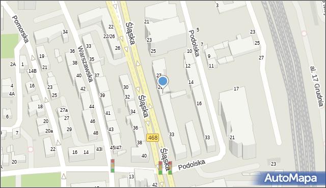 Gdynia, Śląska, 31, mapa Gdyni