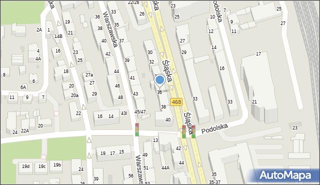Gdynia, Śląska, 36, mapa Gdyni