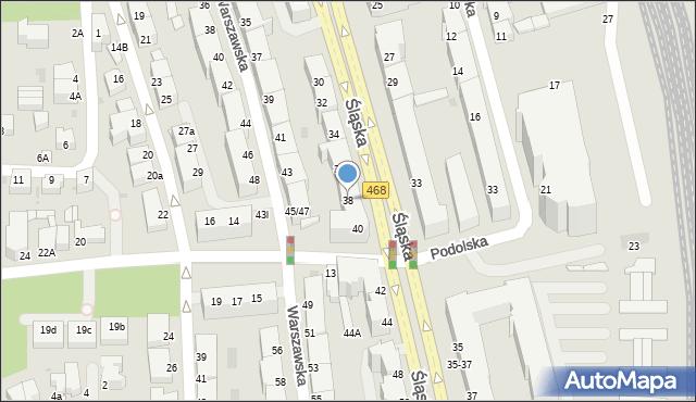 Gdynia, Śląska, 38, mapa Gdyni