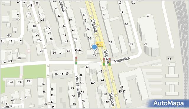 Gdynia, Śląska, 40, mapa Gdyni