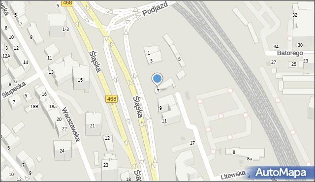 Gdynia, Śląska, 7A, mapa Gdyni