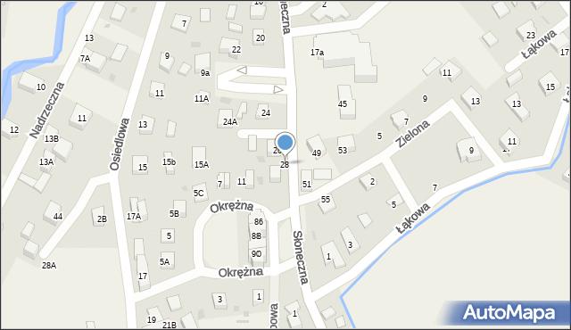 Gościcino, Słoneczna, 28, mapa Gościcino