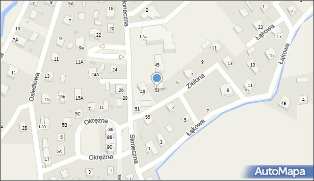Gościcino, Słoneczna, 53, mapa Gościcino