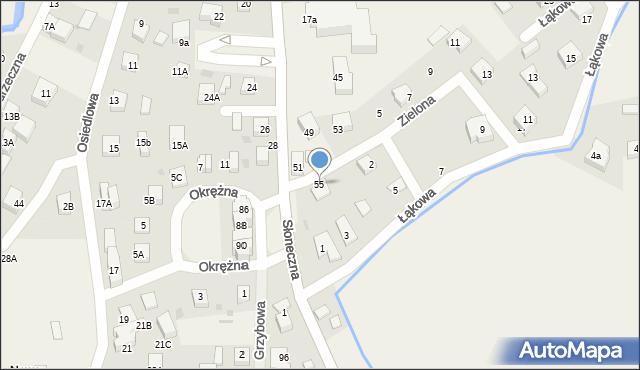 Gościcino, Słoneczna, 55, mapa Gościcino
