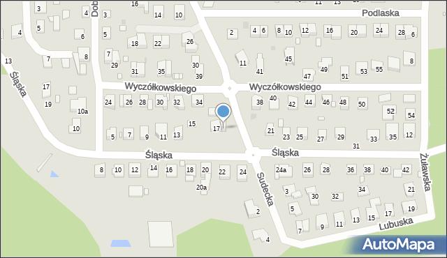 Grudziądz, Śląska, 19, mapa Grudziądza