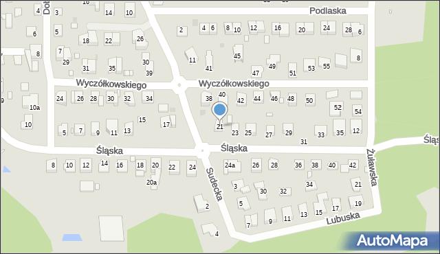 Grudziądz, Śląska, 21, mapa Grudziądza