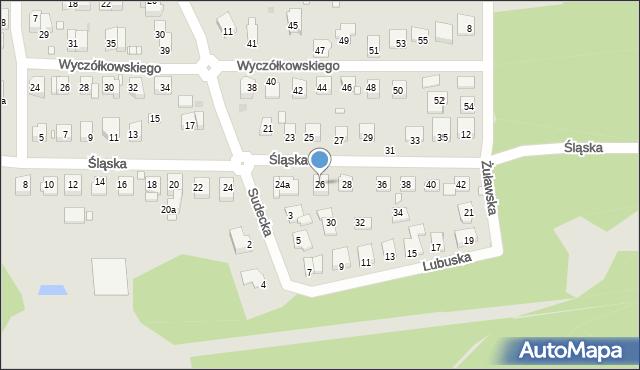 Grudziądz, Śląska, 26, mapa Grudziądza