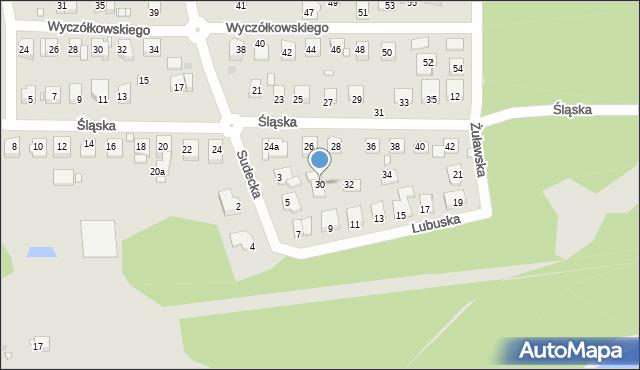 Grudziądz, Śląska, 30, mapa Grudziądza
