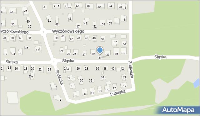 Grudziądz, Śląska, 31, mapa Grudziądza