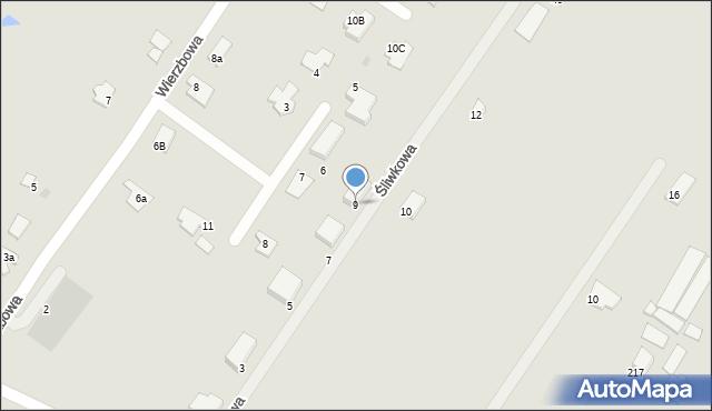 Grudziądz, Śliwkowa, 9, mapa Grudziądza