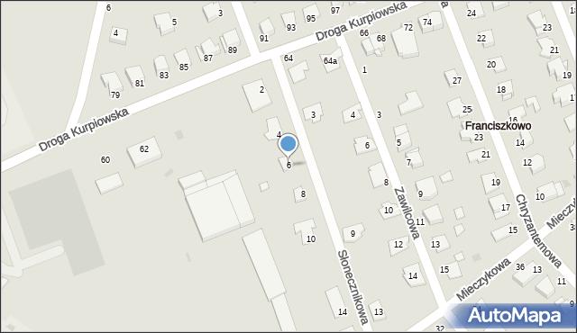 Grudziądz, Słonecznikowa, 6, mapa Grudziądza
