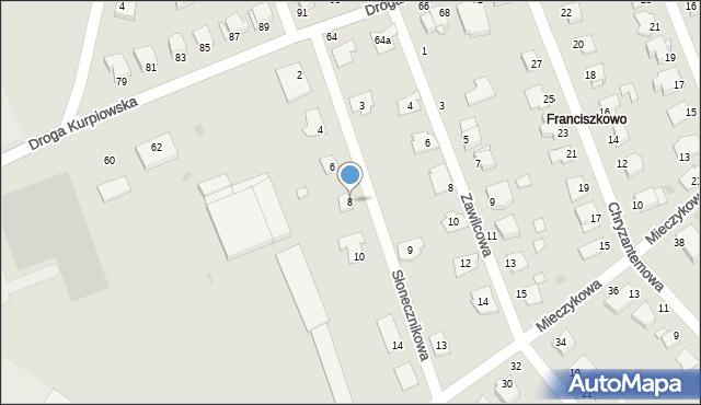 Grudziądz, Słonecznikowa, 8, mapa Grudziądza
