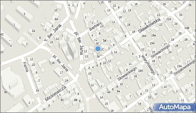 Jaworzno, Sławkowska, 1a, mapa Jaworzno