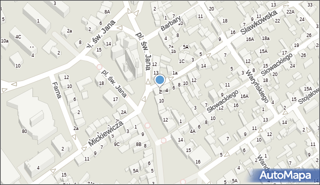 Jaworzno, Sławkowska, 2, mapa Jaworzno
