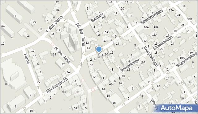 Jaworzno, Sławkowska, 6, mapa Jaworzno