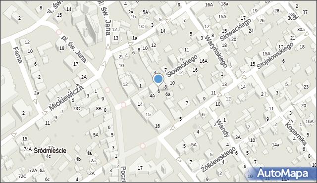 Jaworzno, Słowackiego Juliusza, 6, mapa Jaworzno