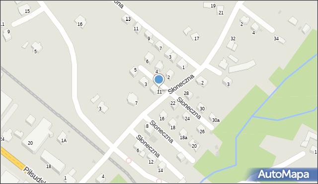 Limanowa, Słoneczna, 11, mapa Limanowa