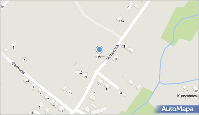 Limanowa, Słoneczna, 15, mapa Limanowa