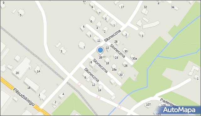 Limanowa, Słoneczna, 16, mapa Limanowa