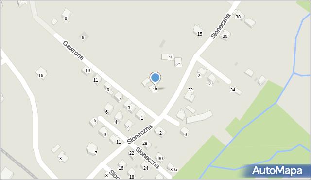 Limanowa, Słoneczna, 17, mapa Limanowa