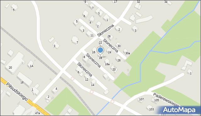 Limanowa, Słoneczna, 18, mapa Limanowa