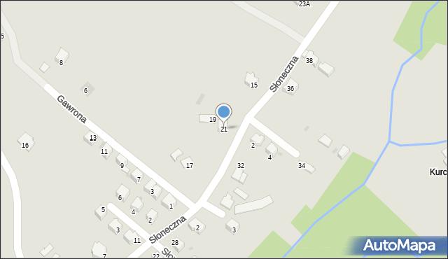 Limanowa, Słoneczna, 21, mapa Limanowa