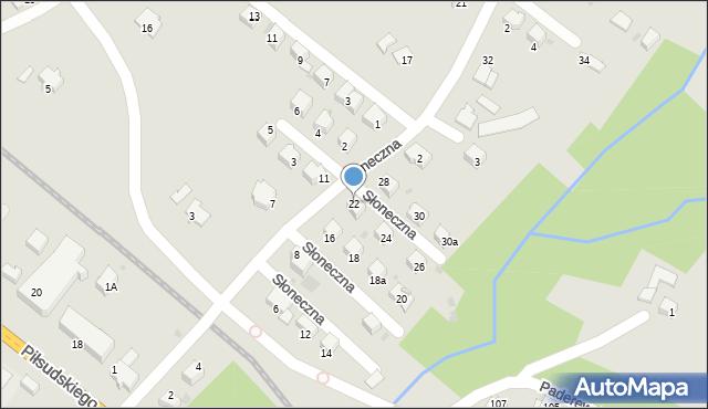 Limanowa, Słoneczna, 22, mapa Limanowa