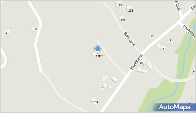 Limanowa, Słoneczna, 23B, mapa Limanowa
