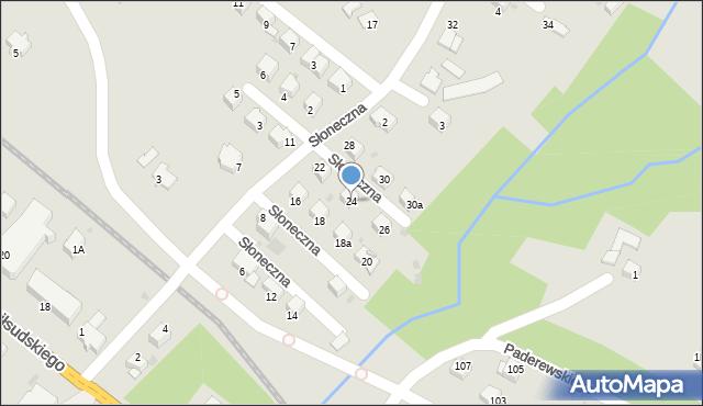 Limanowa, Słoneczna, 24, mapa Limanowa