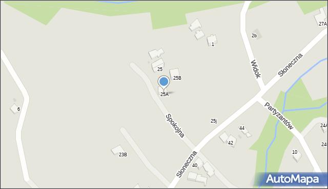 Limanowa, Słoneczna, 25A, mapa Limanowa