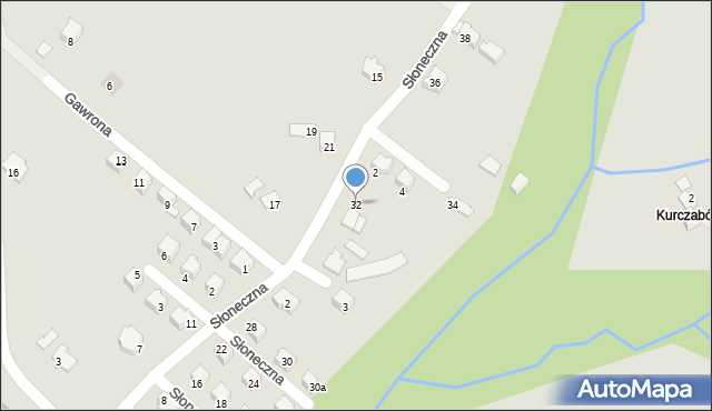 Limanowa, Słoneczna, 32, mapa Limanowa