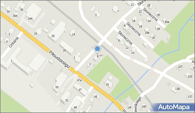 Limanowa, Słoneczna, 4, mapa Limanowa