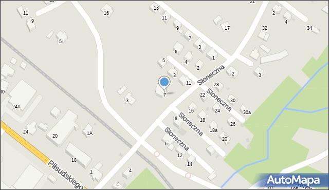Limanowa, Słoneczna, 7, mapa Limanowa
