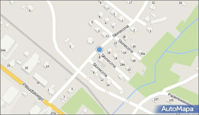 Limanowa, Słoneczna, 8, mapa Limanowa