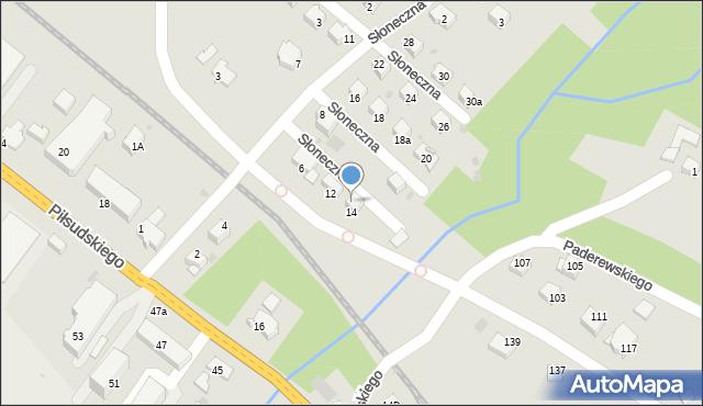 Limanowa, Słoneczna, 9, mapa Limanowa