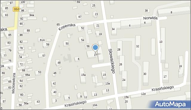 Lubaczów, Słowackiego Juliusza, 17, mapa Lubaczów