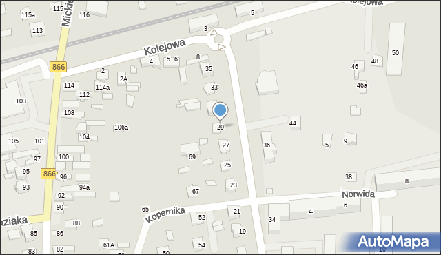 Lubaczów, Słowackiego Juliusza, 29, mapa Lubaczów