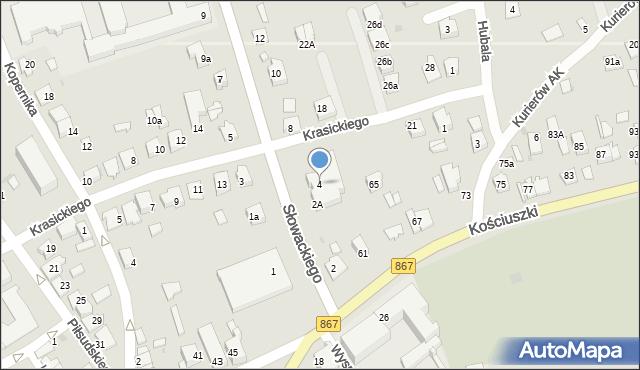 Lubaczów, Słowackiego Juliusza, 4, mapa Lubaczów