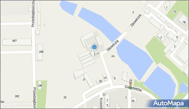 Mysiadło, Słowicza, 1, mapa Mysiadło